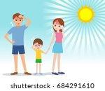 people have heatstroke  concept ...   Shutterstock .eps vector #684291610