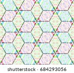 colorful seamless rhombus... | Shutterstock . vector #684293056