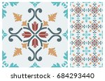 arabic patter style tiles for...   Shutterstock .eps vector #684293440