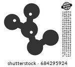 microbes colony icon with black ... | Shutterstock .eps vector #684295924