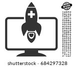 medical startup icon with black ... | Shutterstock .eps vector #684297328