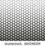 geometric black and white... | Shutterstock .eps vector #684298339