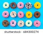 Colorful Donuts Border...