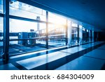 modern building hallway with...   Shutterstock . vector #684304009