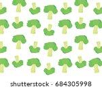broccoli vector on white...   Shutterstock .eps vector #684305998