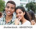 beautiful indian couple looking ...   Shutterstock . vector #684307414