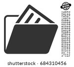 document folder icon with black ...   Shutterstock .eps vector #684310456