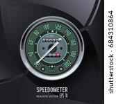 speedometer. tachometer.... | Shutterstock .eps vector #684310864