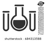 chemical vessels icon with...   Shutterstock .eps vector #684313588