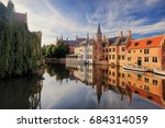 historical centre of bruges  in ... | Shutterstock . vector #684314059