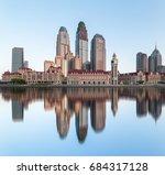 tianjin city waterfront... | Shutterstock . vector #684317128