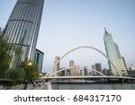 tianjin city waterfront... | Shutterstock . vector #684317170