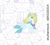 seamless pattern with cute... | Shutterstock .eps vector #684320314