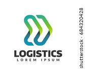 logistic company logo. arrow... | Shutterstock .eps vector #684320428