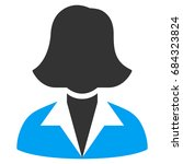 office lady vector icon. style... | Shutterstock .eps vector #684323824