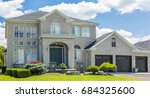 luxury house in the suburbs of... | Shutterstock . vector #684325600