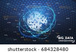 big data abstract visualization.... | Shutterstock .eps vector #684328480