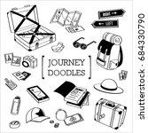 journey doodle. travel doodle... | Shutterstock .eps vector #684330790