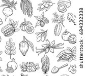 vector hand drawn superfood... | Shutterstock .eps vector #684332338