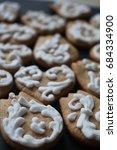 Mini Hungarian Gingerbread Cookies Stock Photo Edit Now 684334900