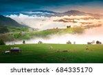 terraced rice field in... | Shutterstock . vector #684335170
