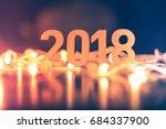 2018 happy new year | Shutterstock . vector #684337900
