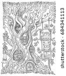 vector hand drawn fantasy old... | Shutterstock .eps vector #684341113