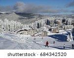 on the white slopes of... | Shutterstock . vector #684342520