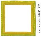 hand drawn doodle vector frame... | Shutterstock .eps vector #684351490