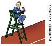 tennis umpire chair   Shutterstock .eps vector #684355078