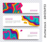 banner design with abstract... | Shutterstock .eps vector #684356953