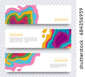 banner templates set with... | Shutterstock .eps vector #684356959