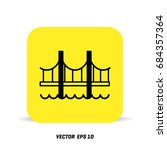 bridge flat line icon | Shutterstock .eps vector #684357364