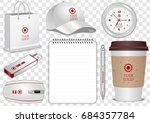 paper coffee cup  realistic... | Shutterstock .eps vector #684357784