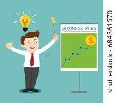businessman presenting business ... | Shutterstock .eps vector #684361570