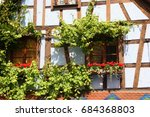 Half Timbered House With...
