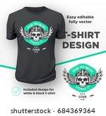 vintage american bikers club... | Shutterstock .eps vector #684369364