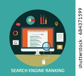 search engine ranking on... | Shutterstock .eps vector #684371599