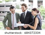 business people collaboration... | Shutterstock . vector #684372334