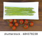 asparagus and tomato | Shutterstock . vector #684378238