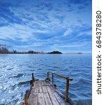 blue sunset | Shutterstock . vector #684378280