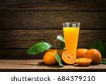 still life glass of fresh... | Shutterstock . vector #684379210