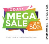modern abstract 50  summer sale ... | Shutterstock .eps vector #684381436