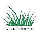 fragment of a green grass...   Shutterstock .eps vector #684381538