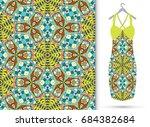 vector fashion illustration.... | Shutterstock .eps vector #684382684