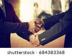 handshake  investment co... | Shutterstock . vector #684383368