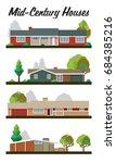 vector set of houses mid... | Shutterstock .eps vector #684385216