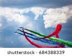Airshow Smoke Of Uae Air Force...
