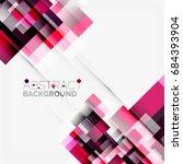 abstract vector blocks template ... | Shutterstock .eps vector #684393904