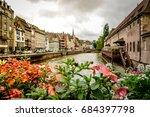 beautiful old town strasbourg...   Shutterstock . vector #684397798